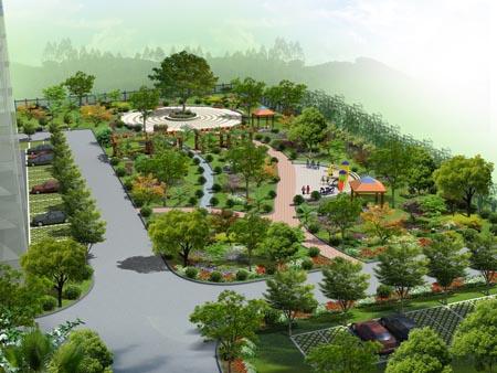 经典小花园效果图设计